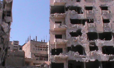 Damaged building in Homs