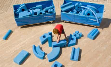Blue playground kit