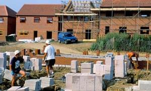 Building site for new homes Milton Keynes