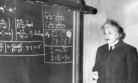 Albert Einstein Gives a Lecture