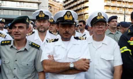 Greek Military Officers protest