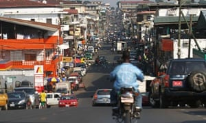 A view of a street in Monrovia