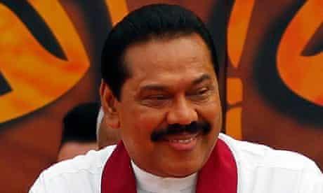 Sri Lankan President Rajapaksa