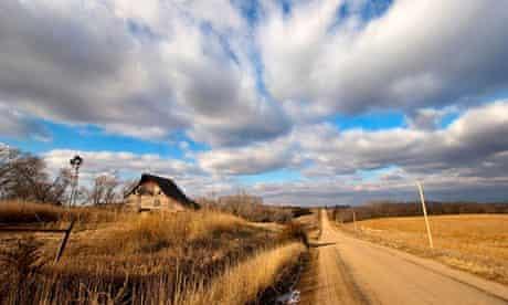 A road in eastern Nebraska