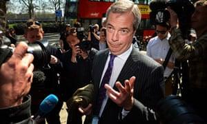 UK Independent Party (UKIP) leader Nigel