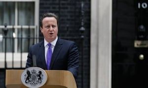 David Cameron speaking to the media outside 10 Downing Street