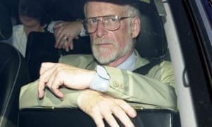 David Kelly leaves parliament in 2003 after giving evidence to the Commons select committee.