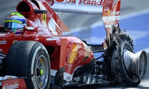 Formula One driver Massa of Brazil