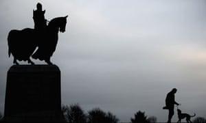 A statue of Robert the Bruce