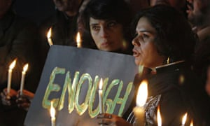 Candlelit vigil for the Peshawar victims in Islamabad, Pakistan.