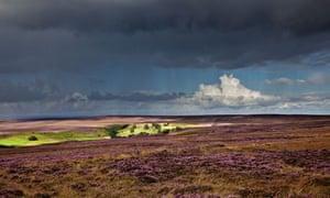 Danby Beacon, North York Moors, storm approaching