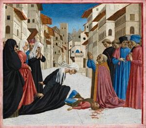 A Miracle of St Zenobius, by Domenico Veneziano