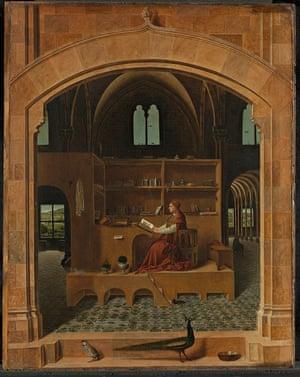 Saint Jerome in his Study Antonello da Messina