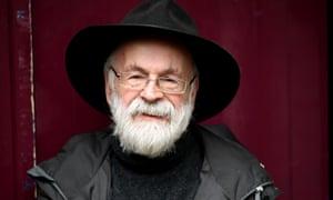 Terry Pratchett in Salisbury in 2013.
