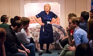 Eileen O'Brien (Marjorie) in Who Cares by Michael Wynne @ Royal Court Jerwood Theatre Upstairs.