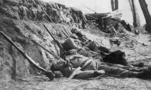 French soldiers killed by chlorine gas in the Second Battle of Ypres in 1915.