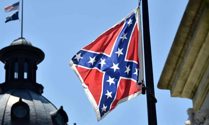 The Confederate flag at the state congress building in Columbia, South Carolina.