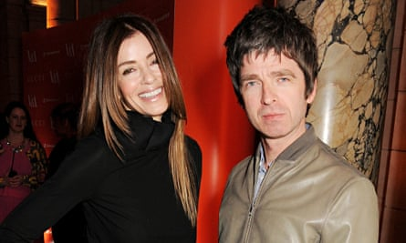 Noel Gallagher with his wife Sara.