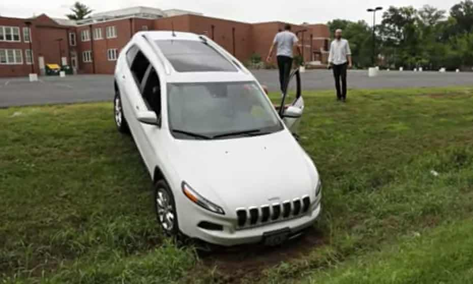 The Jeep that was subjected to a hack by researchers, who took control of most of the vehicle's syst