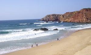 Beach near Aldeia da Pedralva, Portugal.