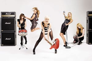 OMM portraits: OMM portrait of Girls Aloud by Murdo Macleod