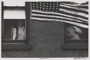 Robert Frank Americans: Parade—Hoboken, New Jersey, 1955 by Robert Frank, from The Americans