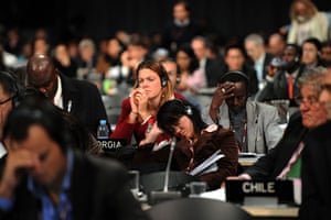 Copenhagen: the result: Members of delegations during a plenary session.