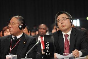 Copenhagen: the result: Members of the Chinese delegation at Copenhagen