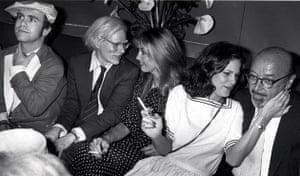 Ron Galella Disco NYC: Elton John, Andy Warhol, Jerry Hall and Ahmet Ertegun at Xenon