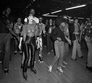 Ron Galella Disco NYC: Cher at a Casablanca Records party at the Empire Roller Disco.