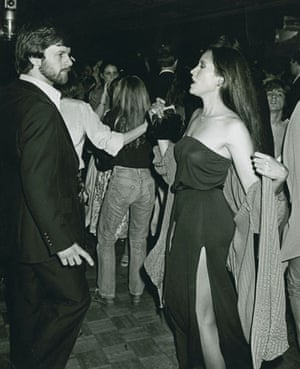 Ron Galella Disco NYC: Barbara Carrera, George Willig, Buy Burgos and Jerry Hall at Studio 54