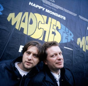 Kevin Cummins' Manchester: Shaun Ryder and Tony Wilson in 1989, by Kevin Cummins