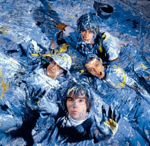 Kevin Cummins' Manchester: The Stone Roses, covered in paint in 1989, by Kevin Cummins