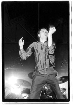 Kevin Cummins' Manchester: Ian Curtis dancing on stage with Joy Division in 1979, by Kevin Cummins