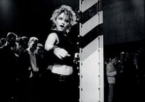 Kevin Cummins' Manchester: Madonna performing at the Hacienda in Manchester in 1984, by Kevin Cummins