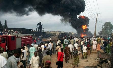 Burning pipeline, Lagos