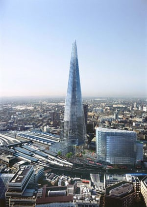 The Shard in progress: Artists impression of the Shard