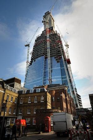 The Shard in progress: Shard building