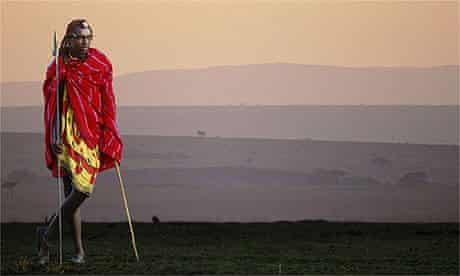 Kenya Maasai herdsman