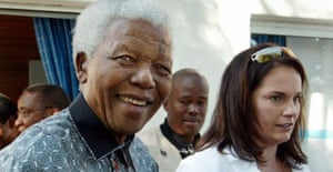 Nelson Mandela with Zelda le Grange