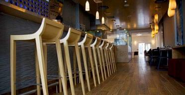 Interior of Saf restaurant