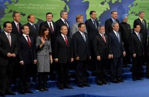 Heads of state at an economic summit
