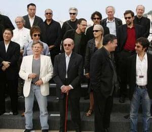 International film directors pose at the 60th Internaitonal Film Festival at Cannes