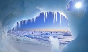 Arctic ice cave
