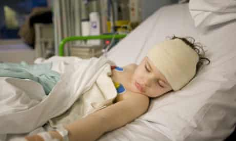 Kian Hendrich, 3, recovering from his brain operation to relieve his epileptic episodes