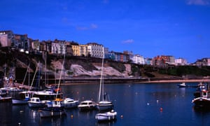 Tenby, sailboats in Tenby harbour