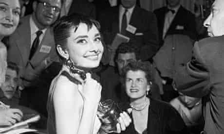 Audrey Hepburn with her Oscar