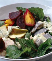 Rollmops with beetroot and apple