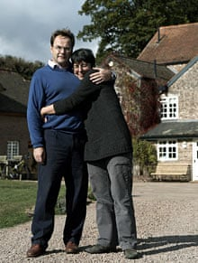 Quentin Letts and wife at home