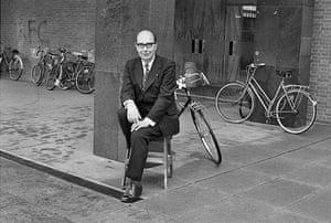 Jane Bown retrospective: Philip Larkin outside Hull University library
